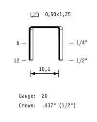 Скоба (скрепка) для крепления георешеток