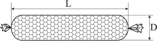 Готовый цилиндрический габион
